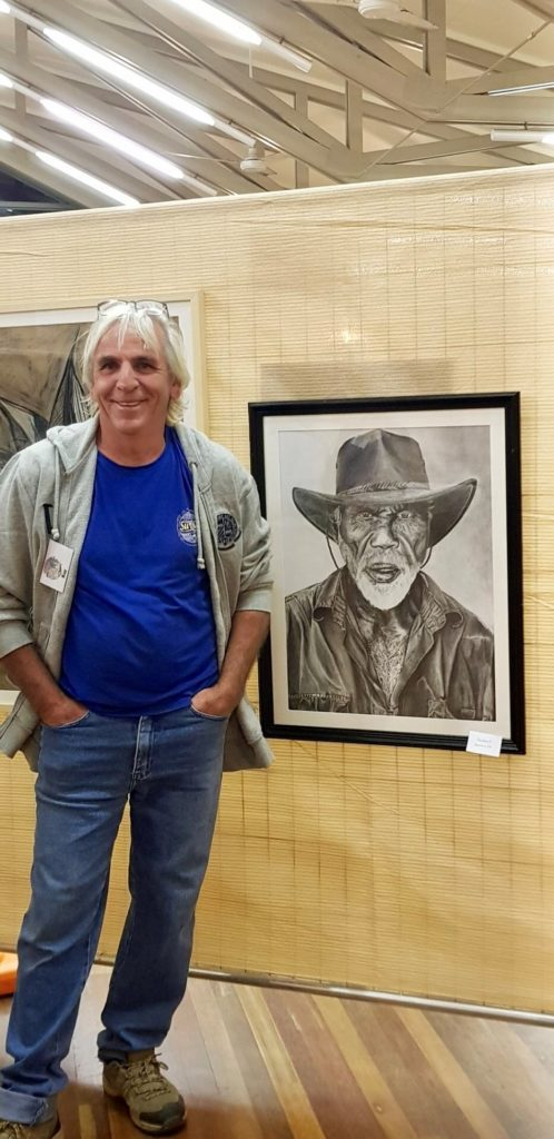 Artist Ray Sparks was the winner of the Moore Park Beach Arts Festival