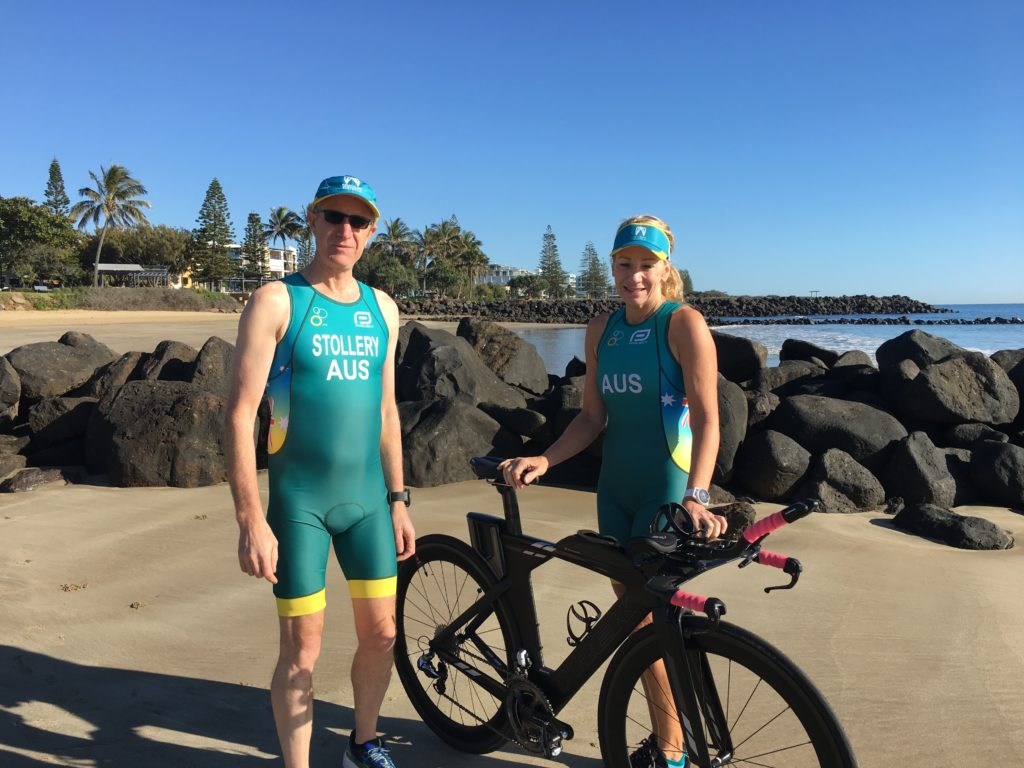 Bargara triathletes COlin Stollery and Sue Phillips will compete in International Triathlon Union World Cup