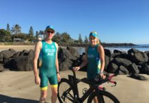 Bargara triathletes COlin Stollery and Sue Phillips will compete in ITU World Cup