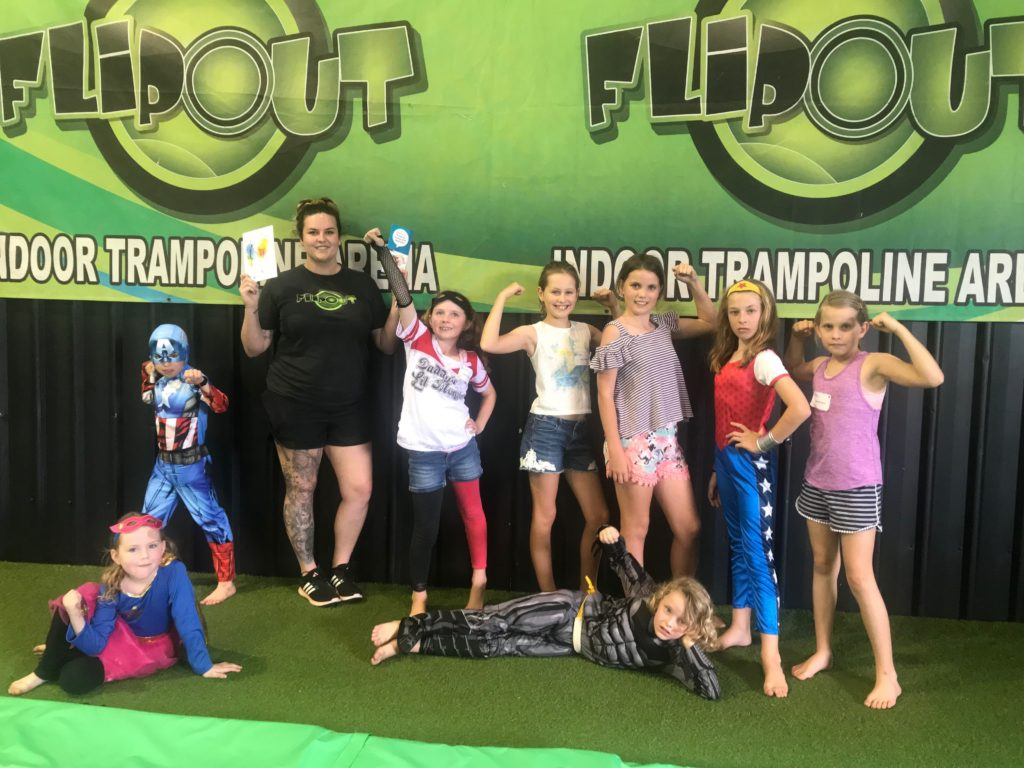 Flip Out's Taylor Hardie helped organised the superhero Diabuddies Day to support children from around the region with type 1 diabetes.