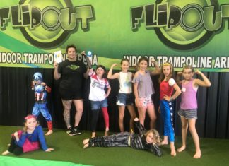 Flipout's Taylor Hardie helped organised the superhero Diabuddies Day to support children from around the region with type 1 diabetes.