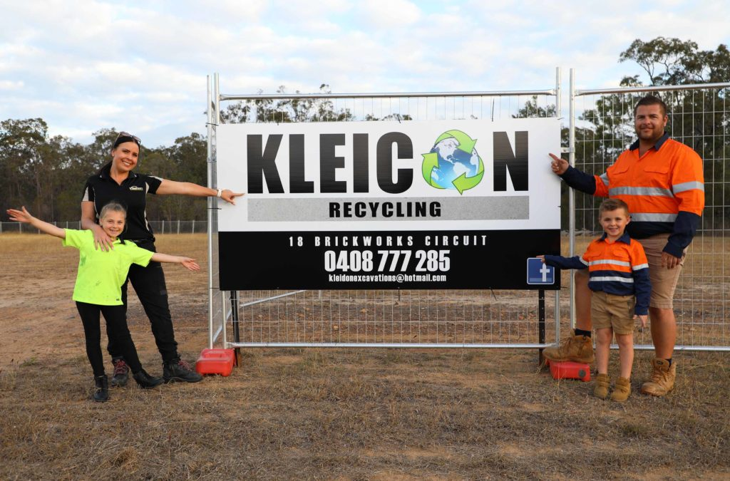 NEW BUSINESS: The Kleidon family getting ready to open Kleicon Recycling next week.