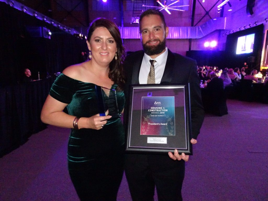Stroud Homes directors Aletha and Slade Walters at the Wide Bay Burnett Master Builders Awards.