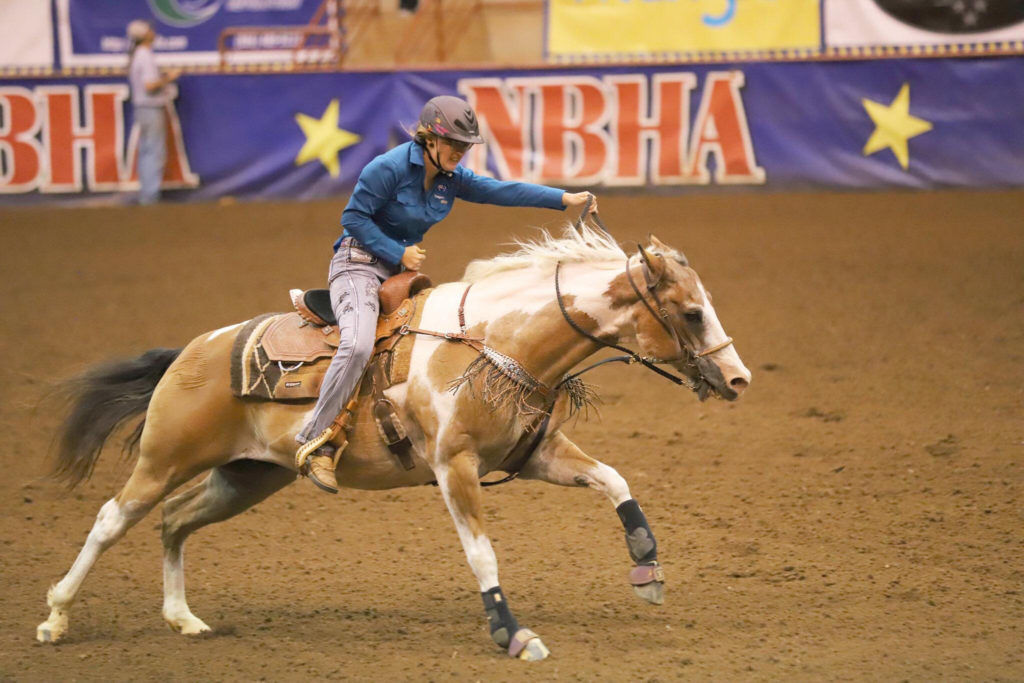 Teagan at the at the National Barrel Horse Association (NBHA) 2019 Youth World Championships.