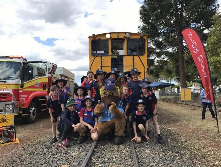 St Joseph's Primary School students learn about cane train safety