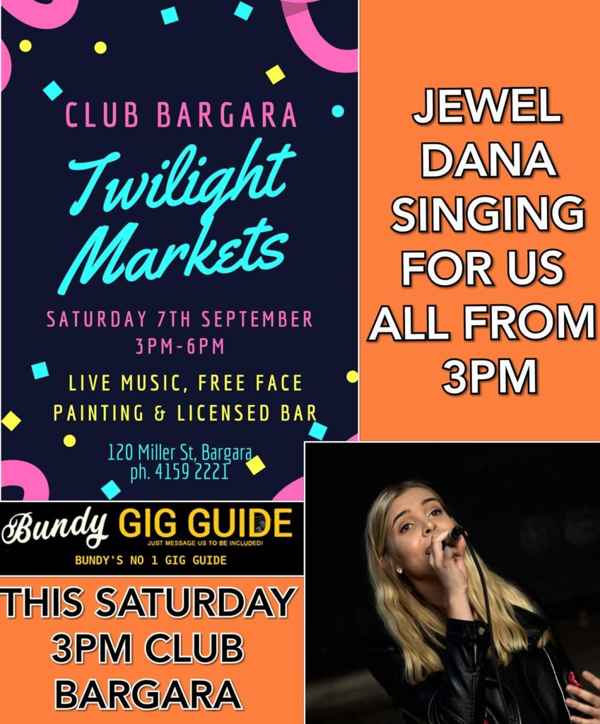 Jewel Dana will perform at Club Bargara this weekend.
