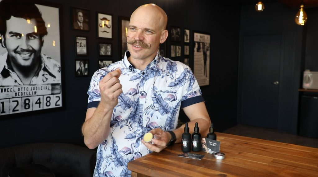 Stache wax: Lincoln Williams has created his own brand of beard oil and stache wax from his company called Lincoln's Moustache Company.