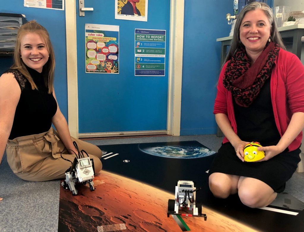 Melinda and Samantha share a passion for teach robotics and coding in the classroom.