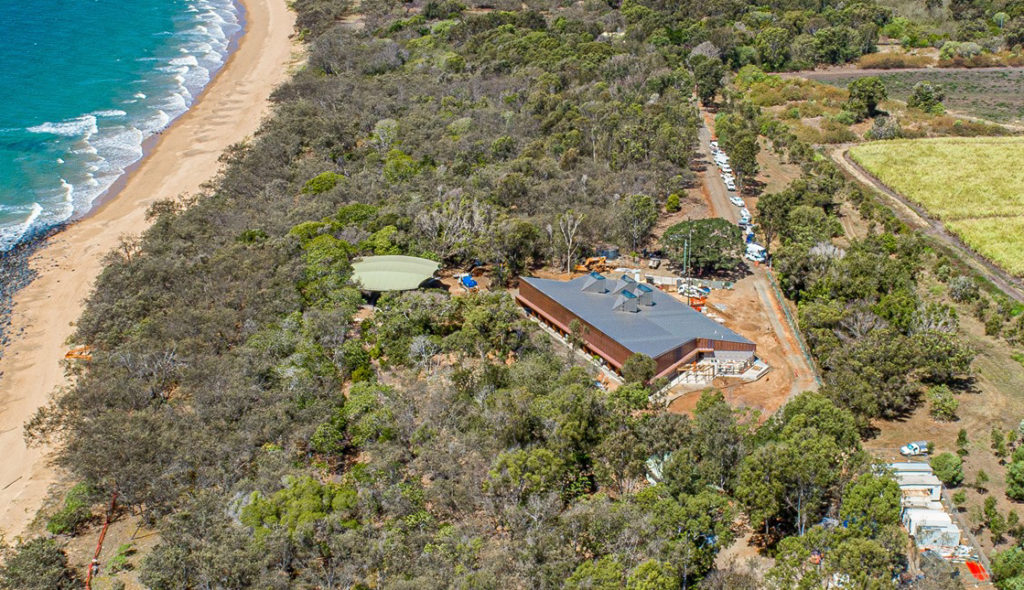 Mon Repos parking at the new Turtle Centre.