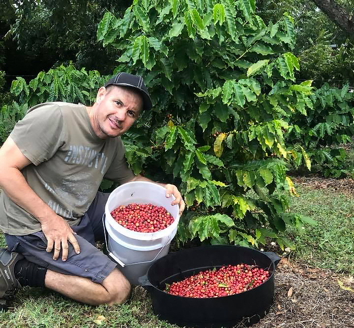 Kadilly Coffee owner Rod Walmsley with his coffee beans.