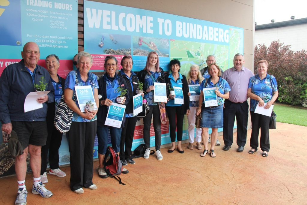 Mayor Jack Dempsey with some of the Bundaberg Tourism volunteers during National Volunteer Week.