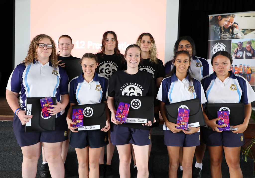 Bundaberg State High School Girls Academy students celebrated their achievements with a special awards presentation today.