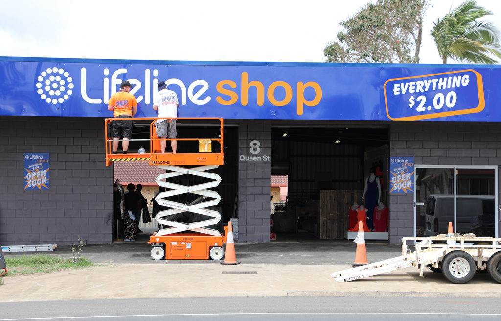 The new Lifeline clearance store on Queen Street, North Bundaberg will open on Monday.
