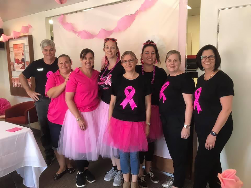 Pink was the theme of the day at the Pink Ribbon Breakfast with Oky Doke Cafe and Gin Gin Community Bank.