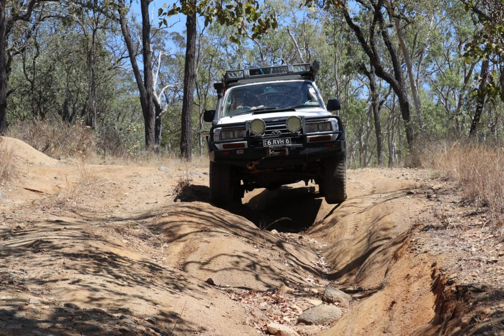 Reynard Vanthof from the South east Qld Deaf 4WD Club out and about
