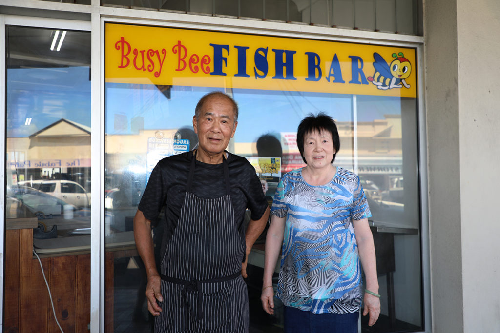 Kent and Lyn Wong are the subjects of local documentary, World Famous in Bundaberg: A Documentary About the Busy Bee Fish Bar.