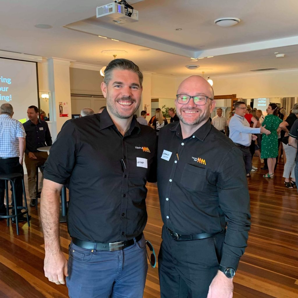 Nathan and Anthony from Triple M attended the #lovebundy breakfast event.
