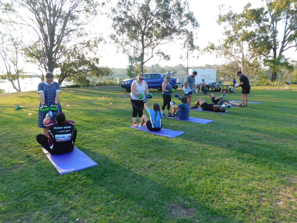 Reclink Australia pull up in parks and open spaces to offer activities for anyone to participate in.