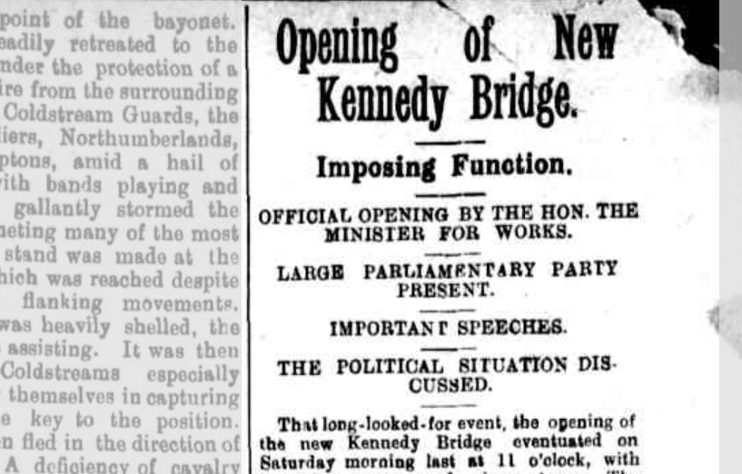 Kennedy Bridge opening