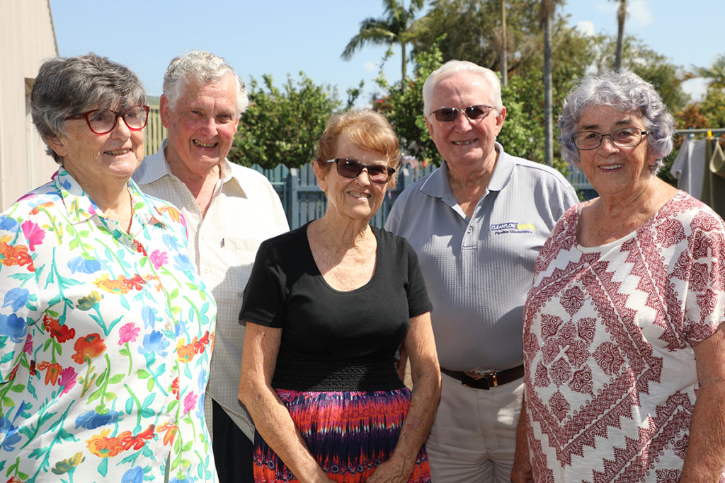 Robyn and Warren Murray, Bev MacSween, Peter MacSween and Pam Weston of the Church of Christ Bundaberg will be hosting a free community Christmas lunch.