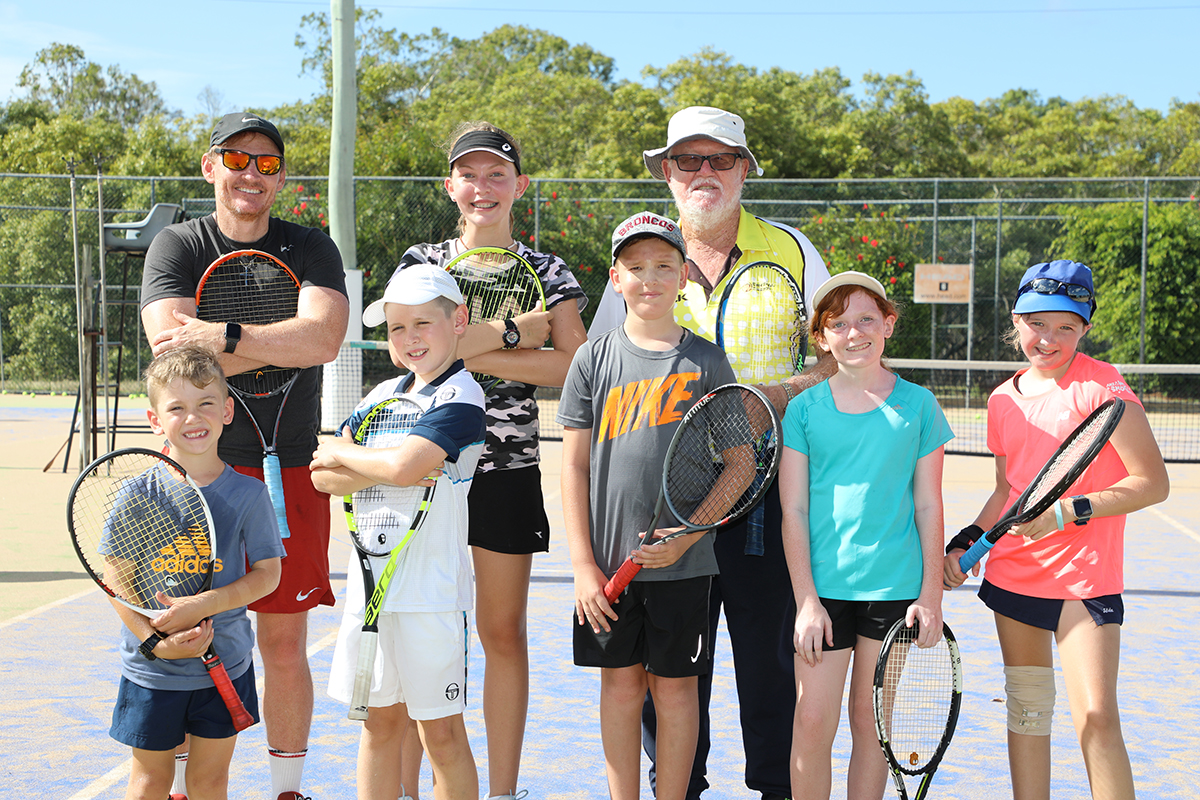 Murray Whitbread with his tennis students