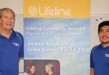Bill Fisher and Ishrel Lequin at Lifeline