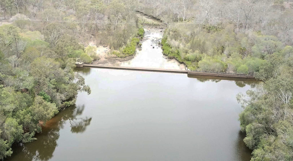 Gregory River Weir currently has a water capacity of 72%.