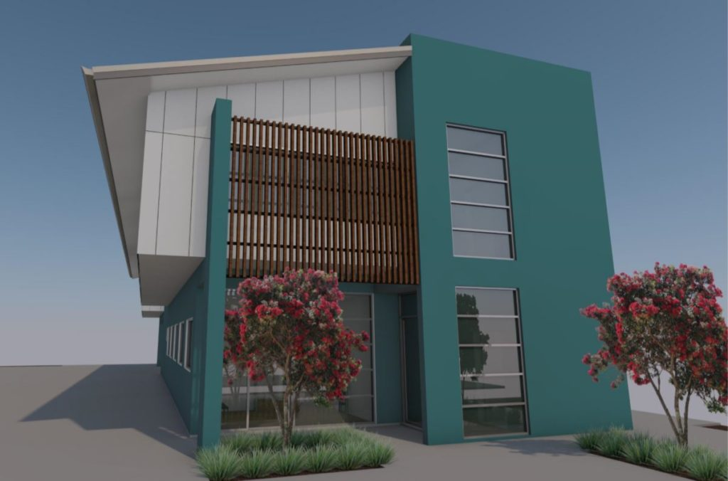 A concept image of the new health centre on Branyan Street, to be constructed within the next six months.