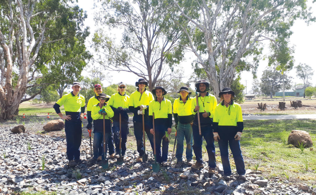 Trainees from Impact Community Services are assisting Council's Natural Areas team.
