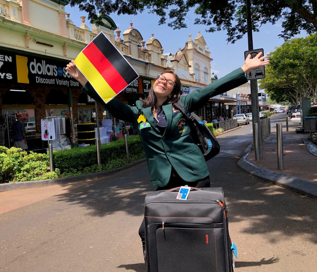 Set to fly! Rotary Youth Exchange participant Renae Anders from Childers will travel to Germany next week to commence a 12 months exchange.