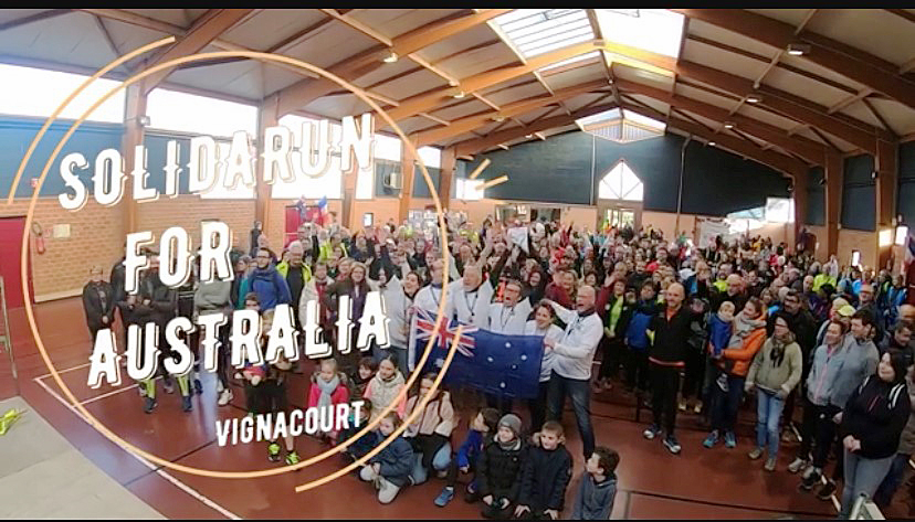Showing their solidarity with the people of our region and Australia. Some of the 450 participants of the Vignacourt fundraising event to support Australia's bushfire recovery effort.