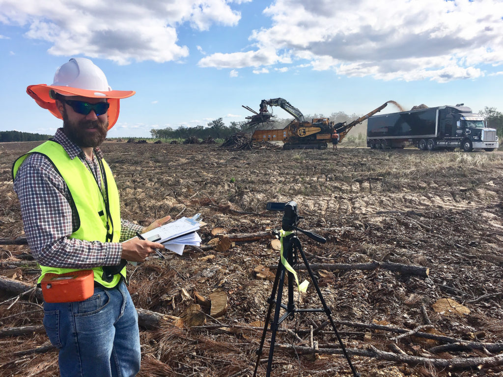USC researcher Dr Michael Berry will lead the two-year study that aims to develop viable alternatives for timber waste left behind from annual log harvests of more than 1.25 million tonnes from the Fraser Coast plantation estate.