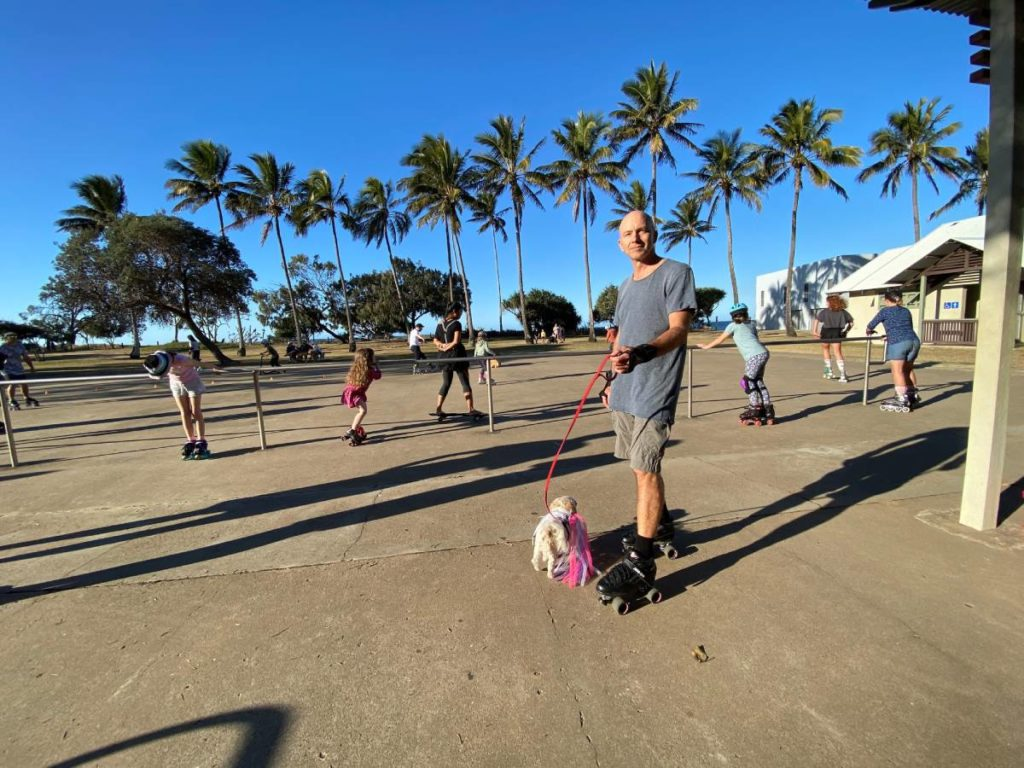Skating at Bargara
