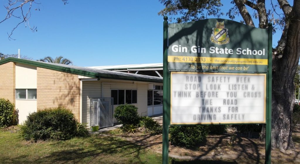 Gin Gin State School support Road Safety Week.