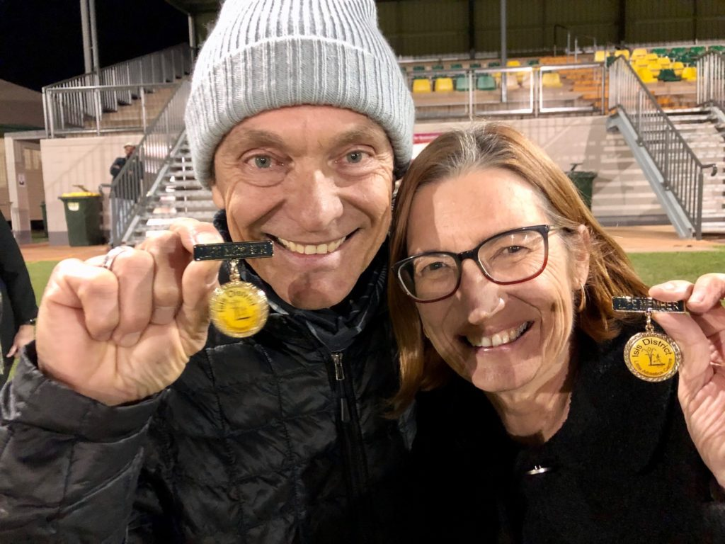 Andrew and Karen Cole were awarded Life Membership of the Isis District Little Athletics Club at the club's award night on Saturday.