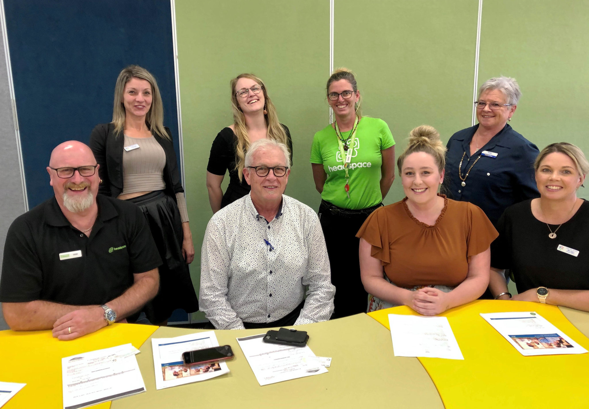 The Bundaberg Jobs Commitment team taking a presentation on successful resume writing to Isis High School this week are (rear from left) Jo Donnison, Sam Jensen, Cristel Simmonds and Betty Lappin. Front (from left) Dean Hyland, Chris Kettle, Amber Lutter and Rebecca Egan.