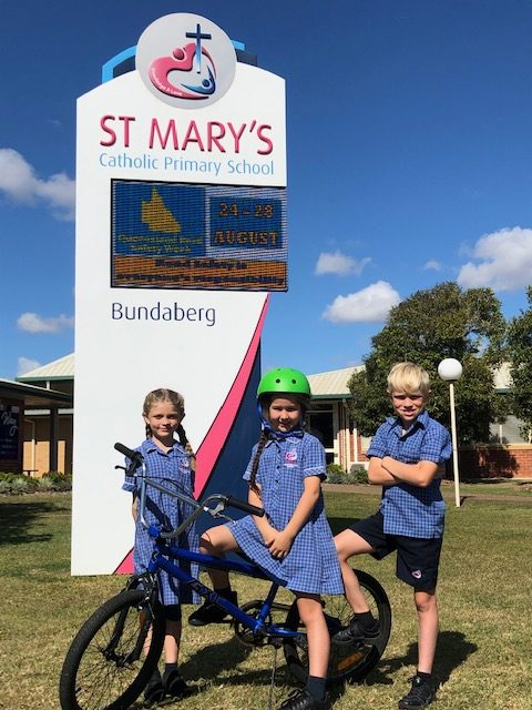 St Mary's School students signed up for Road Safety Week.