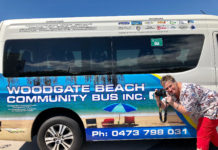 A winning image. Woodgate Beach photographer Traci Osborne supplied the image that decorates the new Woodgate Beach Community Bus.