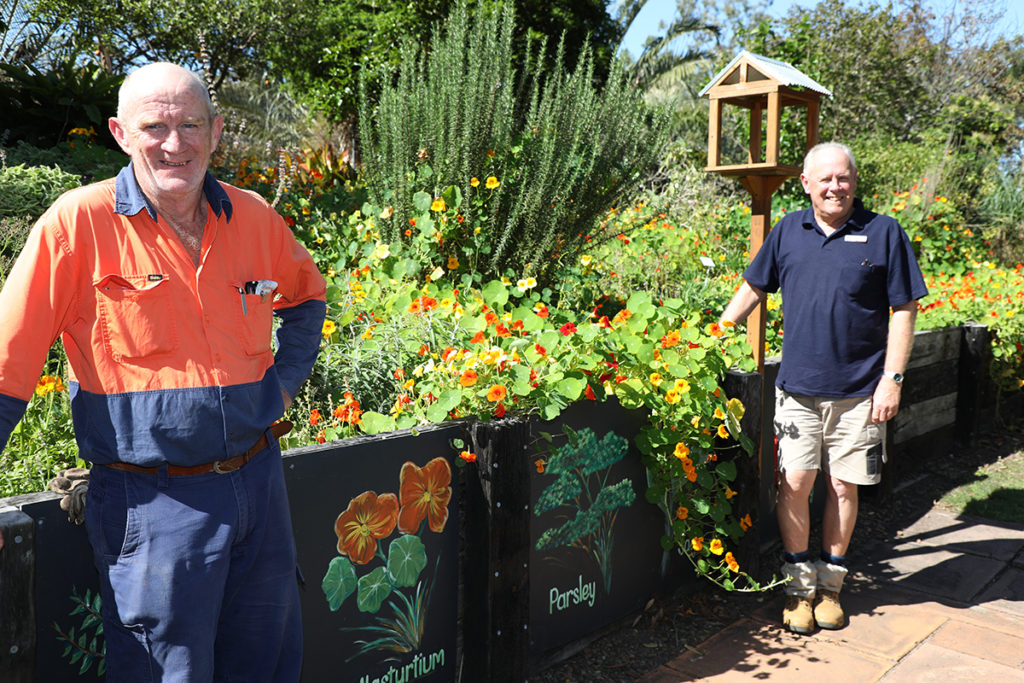 Peter Maike and Richard King at the Tom Quinn Centre gardens