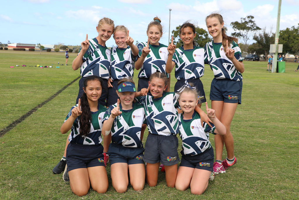 Winners of the Primary All Schools Girls Touch Tournament - St Lukes Anglican School All Girls Team.