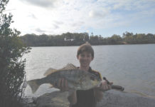 River Felstead with the grunter he caught at Baffle Creek recently.