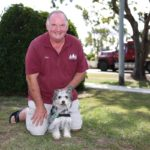 David Eslick and Jake the hearing dog