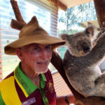 "Ian Jenkins, owner of Snakes Downunder Reptile Park and Zoo with ""Matilda"" one of three female koalas at the zoo."