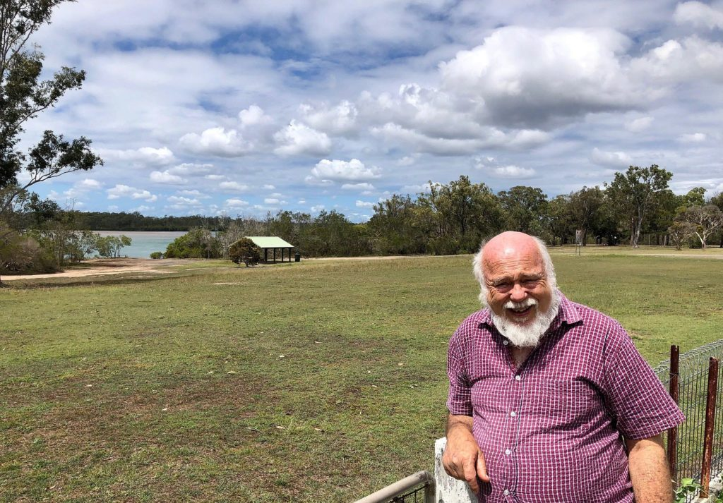 A million-dollar view awaits Merv Hopton in his backyard which provides a panorama of the Burrum River at Buxton.