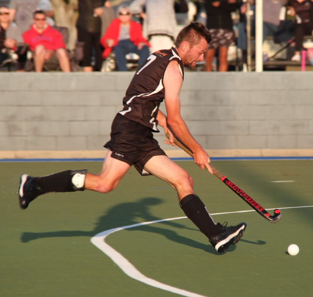 Weekend sports report: Nathan McGill goes on the attack for All Blacks Hockey in their men's semi-final win over Raiders/Rovers