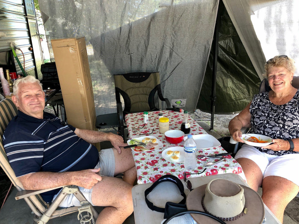 Peter and Janelle are first timers at NRMA Woodgate Beach Holiday Park and are loving it