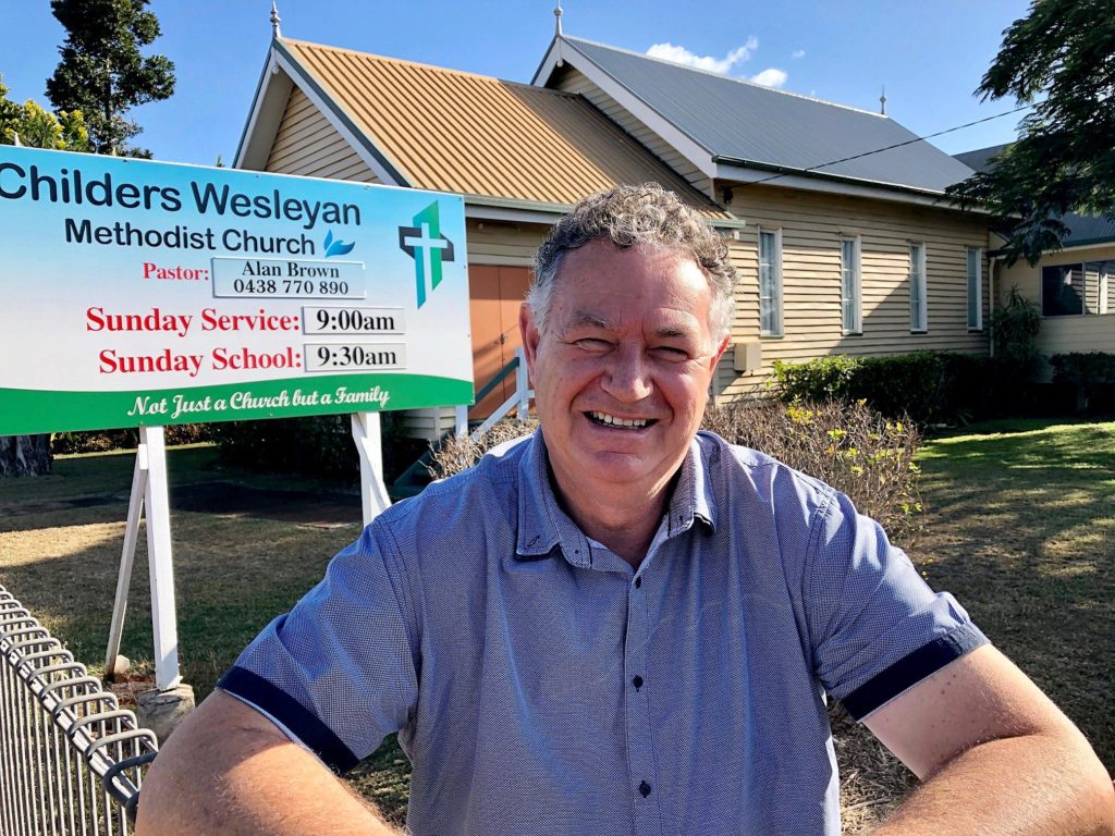 Childers Wesleyan Methodist Church Pastor, Alan Brown has had an interesting career having ministered in places like war torn Bougainville.