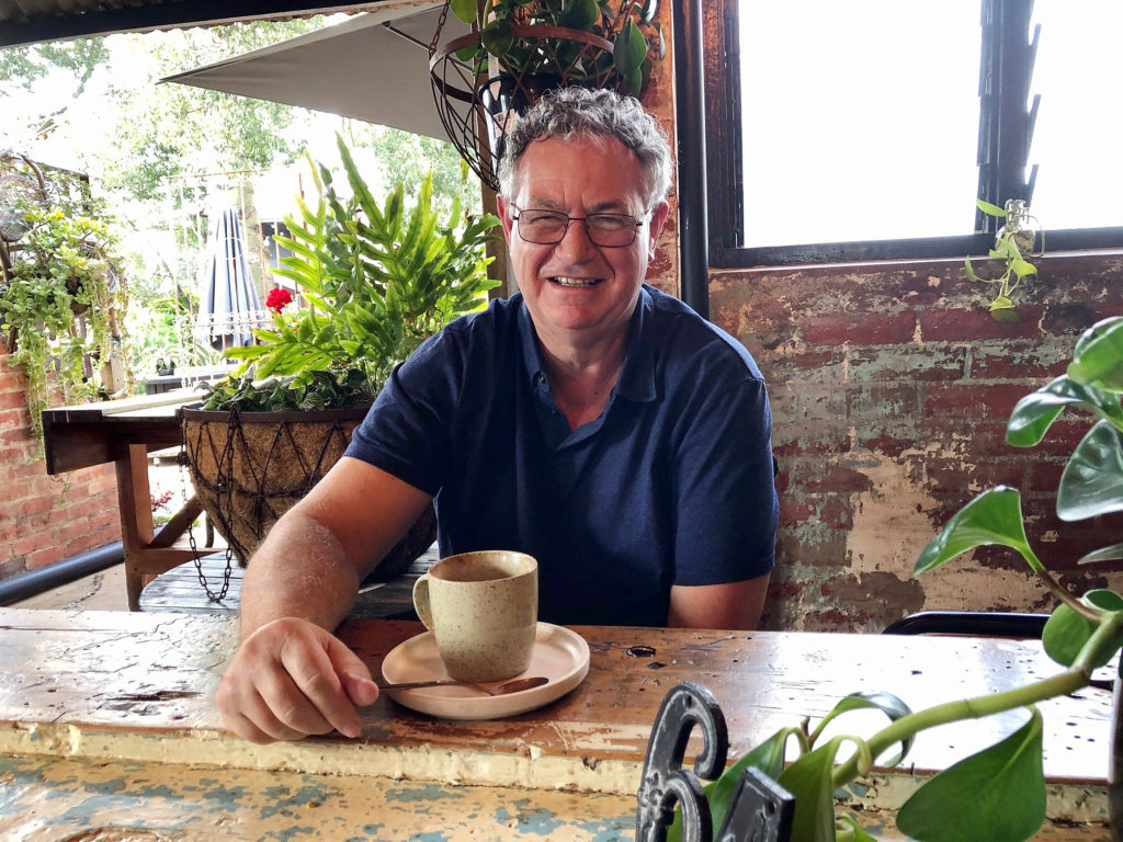 """""""Sometimes you need to be more like Mother Teresa and less like Billy Graham."""" A simple philosophy expressed over a cup of coffee by Childers Wesleyan Methodist Church Pastor, Alan Brown. Info on police chaplain pic to come"""