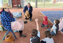 Mayor Jack Dempsey dropped into Cordalba State School to assist with the annual Read To Me Day program.