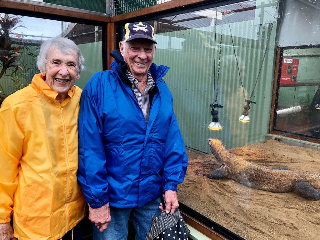 Childers Members Glen and Linley Bartlett enjoyed the visit to Snakes Downunder with the APSLQ group despite the rain.